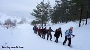 Januar Aufstieg zum Dolmar