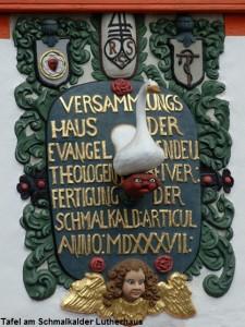 März Tafel am Schmalkalder Lutherhaus